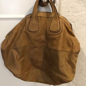 Givenchy Tan Large Leather Nightengale handbag bag